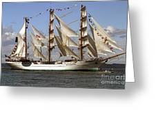 Tall Ship Greeting Card by Robert  Torkomian