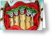 Tamales One Dollar Greeting Card by Heather Calderon