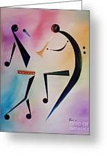 Tambourine Jam Greeting Card by Ikahl Beckford