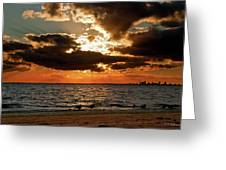 Tampa Bay Sunset Greeting Card by Christopher Holmes