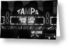 Tampa Theatre 1939 Greeting Card by David Lee Thompson