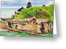 Tanah Lot Greeting Card by MotHaiBaPhoto Prints
