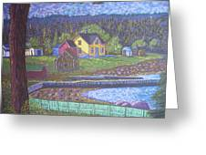 Tancook Houses Greeting Card by Rae  Smith