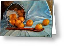 Tangerine Family Portrait Greeting Card by Terrye Philley