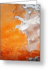 Tangerine Orange Geyser Pool Of Yellowstone Greeting Card by The Forests Edge Photography - Diane Sandoval