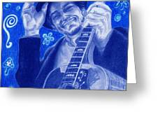 Tangled Up In Blue Greeting Card by Kathleen Kelly Thompson
