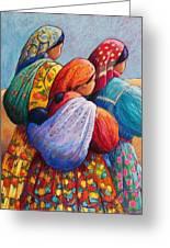 Tarahumara Women Greeting Card by Candy Mayer