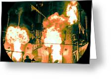 Target In Flames Greeting Card by Andy Smy