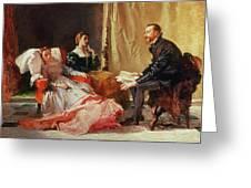 Tasso And Elenora Greeting Card by Domenico Morelli