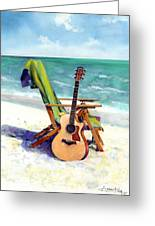 Taylor At The Beach Greeting Card by Andrew King