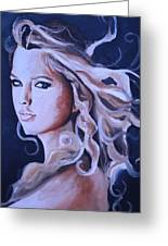 Taylor Swift Painting Greeting Card by Mikayla Henderson