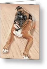 Taz My Best Friend Greeting Card by Vanda Luddy