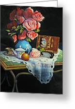 Tea Time Greeting Card by Robert Carver