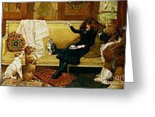 Teatime Treat Greeting Card by John Charlton