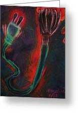 Technology Art Greeting Card by Angelina G T