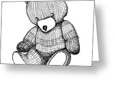 Teddy Bear Greeting Card by Karl Addison