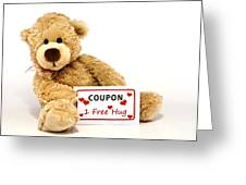 Teddy Bear With Hug Coupon Greeting Card by Blink Images