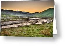 Tehachapi Loop Climb Greeting Card by Connie Cooper-Edwards
