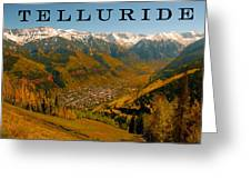 Telluride Colorado Greeting Card by David Lee Thompson