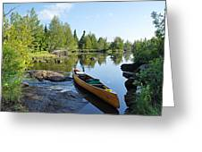 Temperance River Portage Greeting Card by Larry Ricker