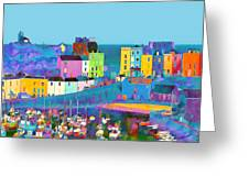 Tenby Harbour  I Greeting Card by Gareth Davies