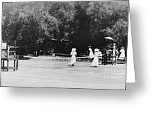 Tennis Champions Sutton And Hotchkiss Greeting Card by Omikron