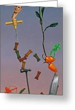 Tenuous Still-life 3 Greeting Card by James W Johnson