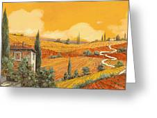 terra di Siena Greeting Card by Guido Borelli