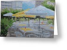 Terrace Cafe Greeting Card by Robert Rohrich