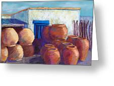 Terracotta Pots Greeting Card by Candy Mayer