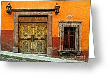 Terracotta Wall 1 Greeting Card by Olden Mexico
