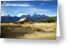 Teton Barn 3 Greeting Card by Marty Koch