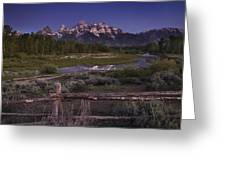 Teton Countryside Greeting Card by Andrew Soundarajan