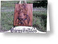 Texana Greeting Card by Calixto Gonzalez