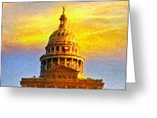 Texas Capitol at Sunset Austin Greeting Card by Jeff Steed