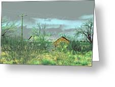 Texas Farm House - Digital Painting Greeting Card by Merton Allen