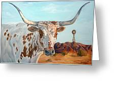 Texas Longhorn Greeting Card by Jana Goode