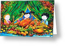 Thanksgiving Day Greeting Card by Zaira Dzhaubaeva