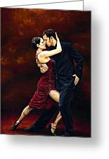 That Tango Moment Greeting Card by Richard Young