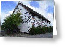 Thatched Country House Impressionist Painting Greeting Card by Dawn Hay