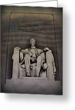 The Abraham Lincoln Memorial Greeting Card by Bill Cannon
