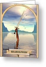 The Ace Of Swords Greeting Card by John Edwards