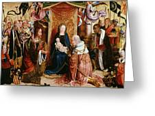The Adoration Of The Kings Greeting Card by Master of Saint Severin