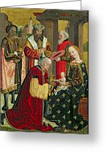 The Adoration Of The Magi Greeting Card by Absolon Stumme