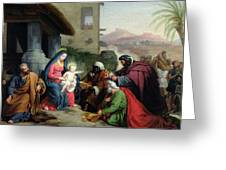 The Adoration Of The Magi Greeting Card by Jean Pierre Granger