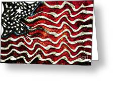 The American Flag Greeting Card by Mimo Krouzian