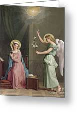 The Annunciation Greeting Card by Auguste Pichon