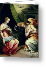 The Annunciation Greeting Card by Giorgio Vasari