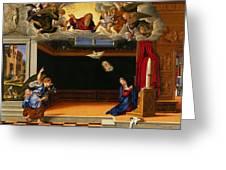 The Annunnciation Greeting Card by Girolamo da Santacroce