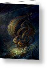 The Apparation Greeting Card by Philip Straub